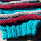 Ribbed legwarmers - hand knitted in pure wool, size L.