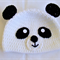Panda bear hat (crocheted)