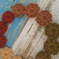 Handmade crochet flowers, pack of 4, earthy, rustic, sewing, appliqué, craft