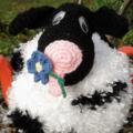 MOO-RIEL Cow Crochet Tea Cosy Great  Gift