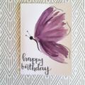 Purple Butterfly - Happy Birthday