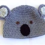 Koala bear hat (crocheted)
