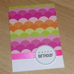 Female Happy Birthday card - rainbows