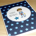 Boys Happy Birthday card - knight / prince