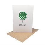 Good Luck Card - GDL006 - Lucky Four Leaf Clover.