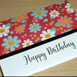 Female Happy Birthday card - spring flowers