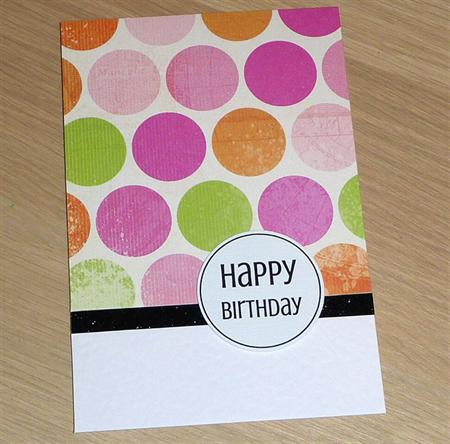Female Happy Birthday card -  circles