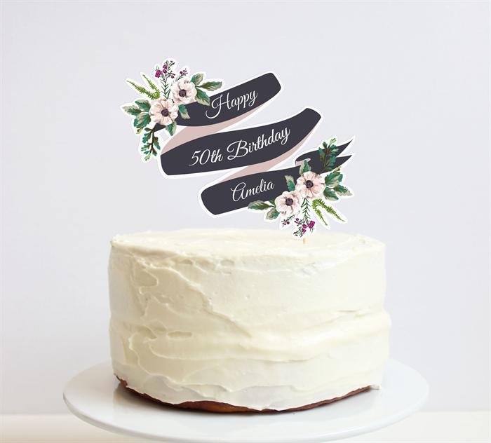 Banner Cake Topper Set