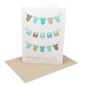 Baby Boy Card - Boys Bibs and Clothes on Clothesline - BBYBOY041