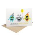 Birthday Card Boy, Party Monsters Card, Cards for Boys, HBC193