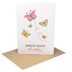 Birthday Card Girl - Butterflies - HBC219
