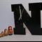 "WOODEN LETTER ""N"" CLOCK"