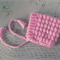 Vintage Pink Hand Crocheted Newborn Pixie Baby Bonnet Photo Prop