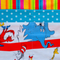 Dr Seuss Teacher preschool vendor apron - 6 pockets