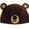 Teddy bear hat (crocheted)