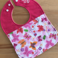 Butterflies Feeding Bib Super Absorbent with Stay-Dry backing