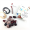 Make it yourself necklace kit-handcrafted polymer clay beads- Red, white, black