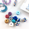 Make it yourself necklace kit-handcrafted polymer clay beads- stripes