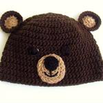 Teddy bear hat (crocheted)