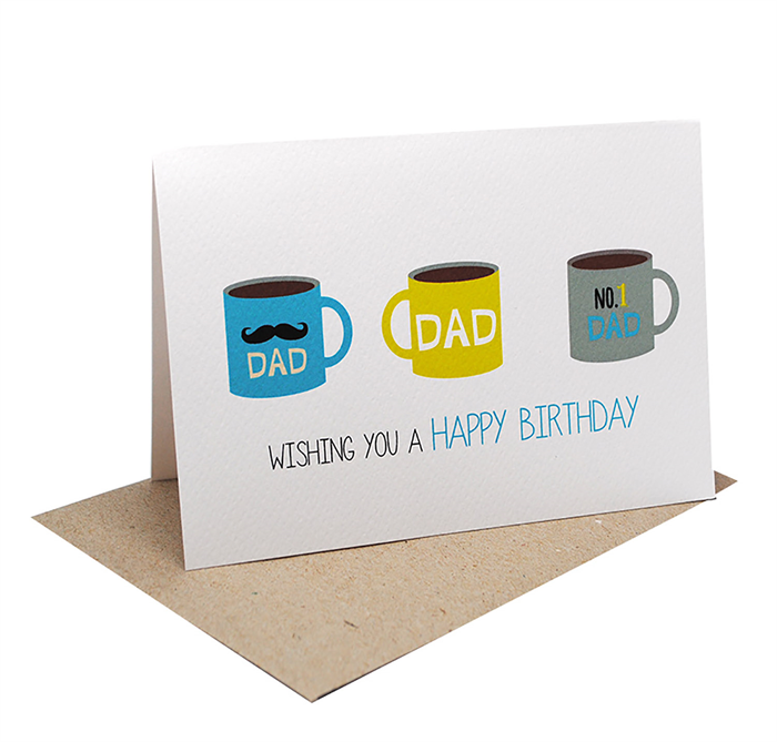 Birthday Card Male Coffee Cups For Dad Hbm063 Mum And Me