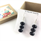 Faceted Onyx beaded earrings with 925 sterling silver hooks