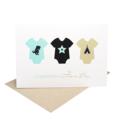 Baby Boy Card - 3 Baby Boy Rompers - BBYBOY042