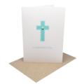 Confirmation Day Card - Blue Polkadot Cross - REL006