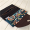 Cross Body Sling Bag & Wallet Set in Floral Fabric and Brown Cork