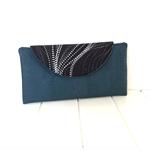 Cork and Fabric Wallet, Bi-fold Wallet, Bi-fold Purse, Aboriginal Fabric Wallet.
