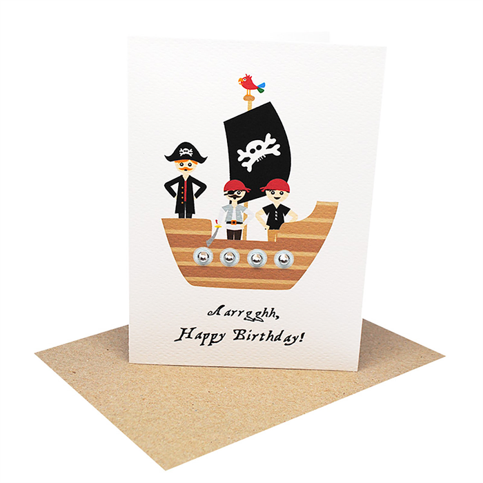 Birthday Card Boy Pirates On A Pirate Ship Hbc244 Mum And Me