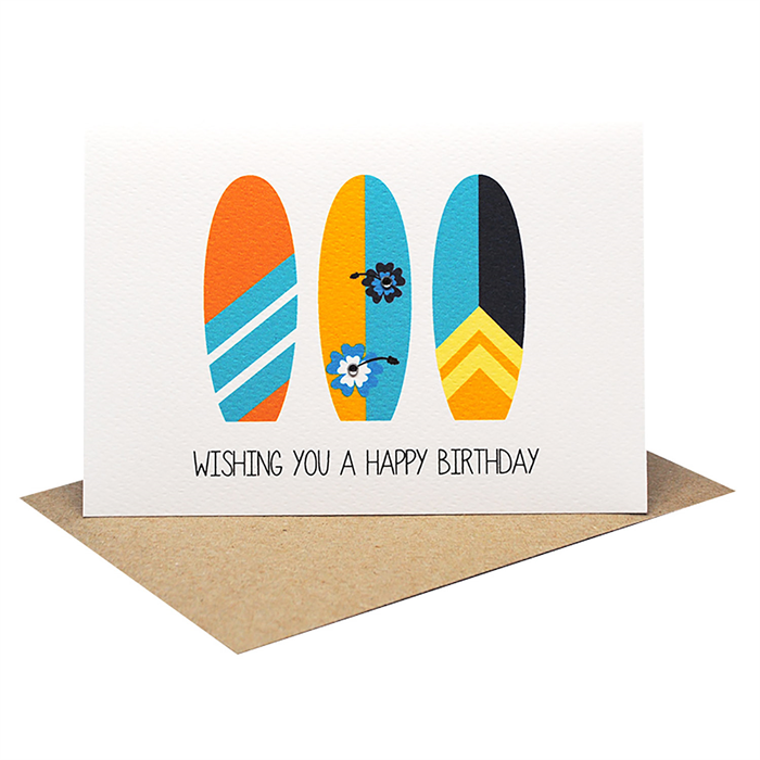 Birthday Card Male Happy Birthday Surfboards Hbm076 Mum And