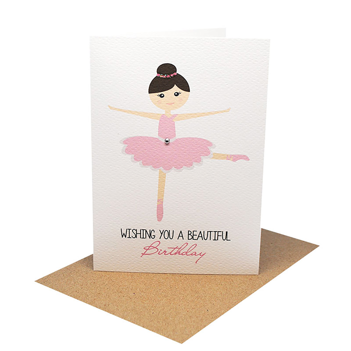 33f10c29f04 Birthday Card Girl - Ballerina - HBC204 | Mum and Me Handmade Designs |  madeit.com.au