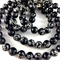 Handcrafted Polymer Clay Long Necklace- black and white floral