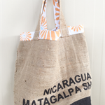 Recycled Coffee Burlap Grocery/Shopping Plastic Free Tote - Supreme Flowers