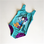 Dino Girl Swimsuit/Leotard - Size 7 - Ready to Post