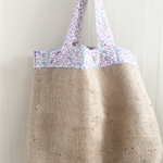 Recycled Coffee Burlap Grocery/Shopping Plastic Free Tote - Birds