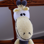 Griffin: Hand crocheted Giraffe by CuddleCorner: Soft, OOAK, Washable, Unisex