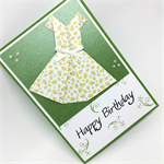 Birthday Card - Female, Origami Dress