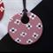 Ceramic Pendant Necklace - Pink Floral