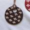 Ceramic Pendant Necklace -  Chocolate coloured floral
