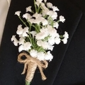 Baby's Breath Buttonhole for Groom or Groomsman -  Gypsophila Wedding Buttonhole