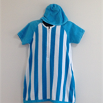 Size 9 Girls Short Sleeved  Beach Towel Dress with side pockets