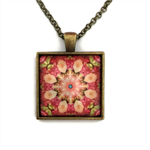 Square mandala pendant | necklace | gift for sister | MA001