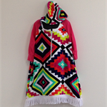 Size 4 Girls Beach Towel Dress with long sleeves and side pockets