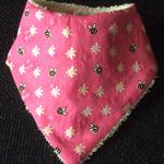 Baby bandana bib/girl pink