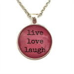 live love laugh | pink necklace | gift for sister | INS005pink