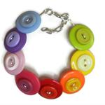 Beaut Buttons - Rainbow  button bracelet