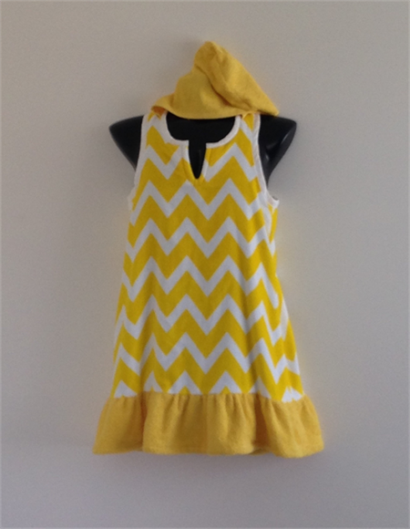 Girls Size 9 Beach Towel Dress/Pool Cover up