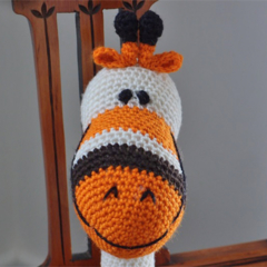 Grayson: hand crochet toy giraffe: Unisex, washable, soft, cuddly, baby shower
