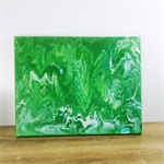 Green Geode Contemporary Artwork - Acrylic Painting- Fathers Day Gift